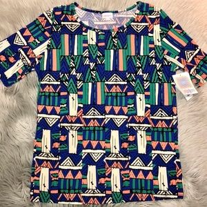 LulaRoe Plus Size Gigi Tribal Top 2X